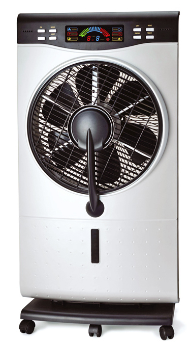Indoor Misting Fan : Keep your cool this summer with evaporative mist fan