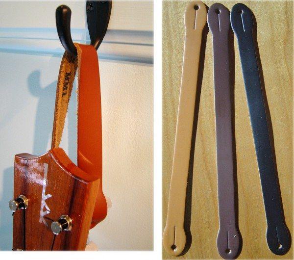 leather ukulele hanger