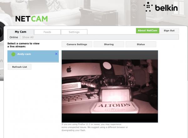 belkin netcam HD+12