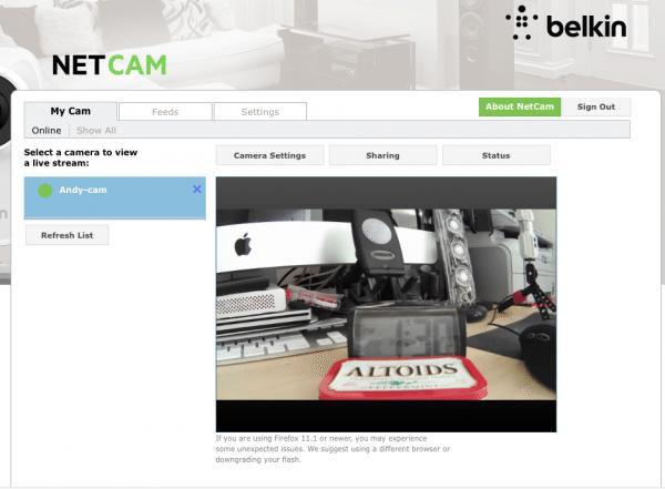 belkin netcam HD+13