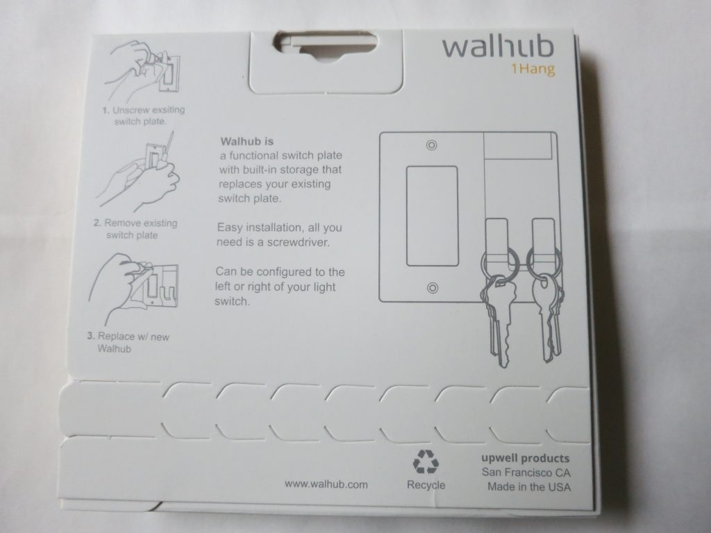 Walhub Switch Plate Storage Review The Gadgeteer How To Replace A Light Made Easy Which Includes Simple Installation Instructions 1hang Package Rear