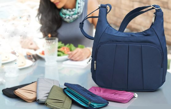travelon anti theft convertible hobo and wallet 2