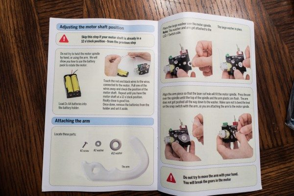11 Attaching Arm Instructions