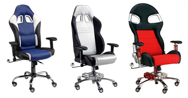 if you can 39 t own a race car how about a race car chair the gadgeteer. Black Bedroom Furniture Sets. Home Design Ideas