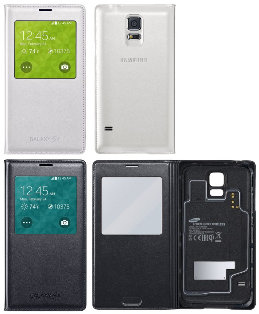 new product 4d6f3 0bf00 The S-View Flip Cover cases for Samsung Galaxy S5 – The Gadgeteer