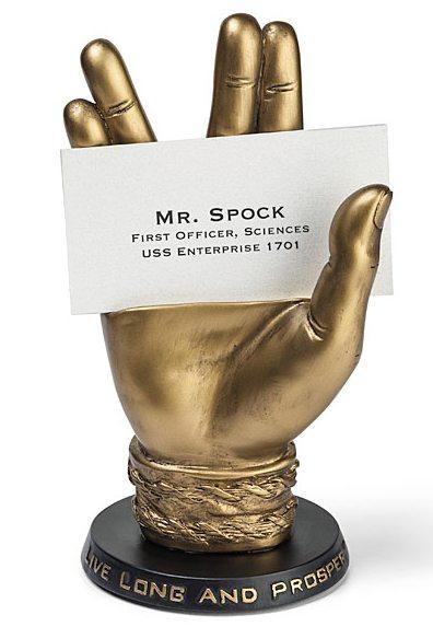 mr spock business card holder