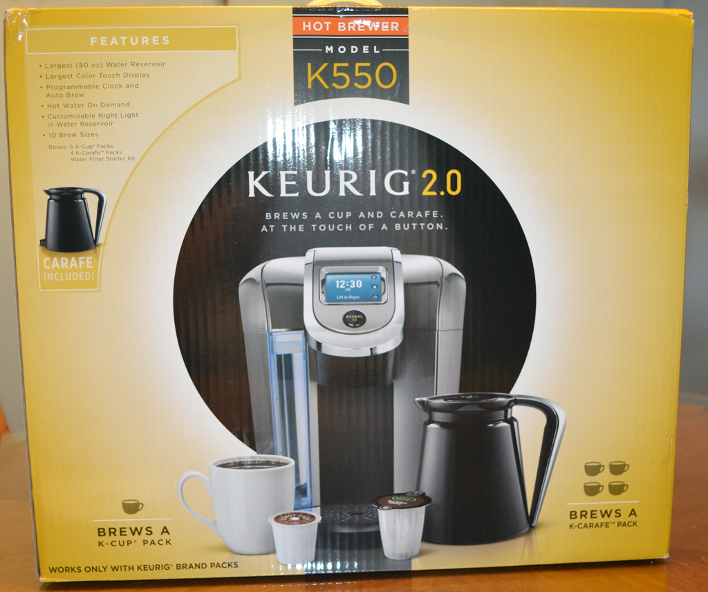 Keurig 20 Model K550 Coffee Brewing System Review The Gadgeteer