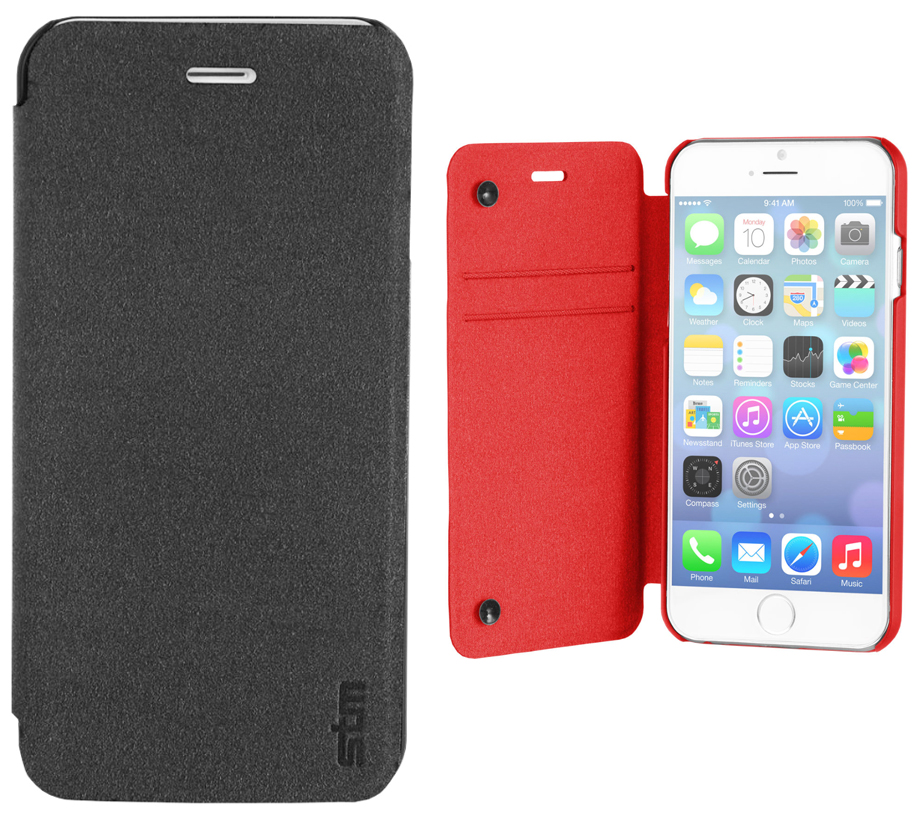 quality design 444d0 ce515 STM Flip Folio Case also protects the screen of your iPhone 6 or 6 ...