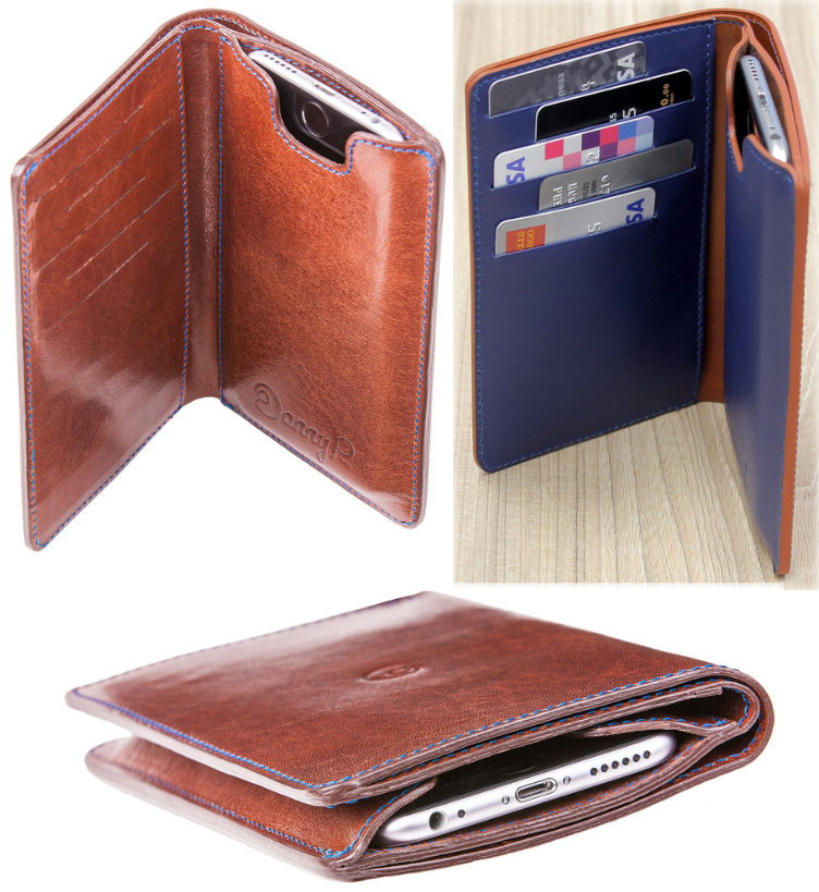 best service 90319 2e279 This leather wallet and iPhone 6 case is Apple-Pay compatible – The ...