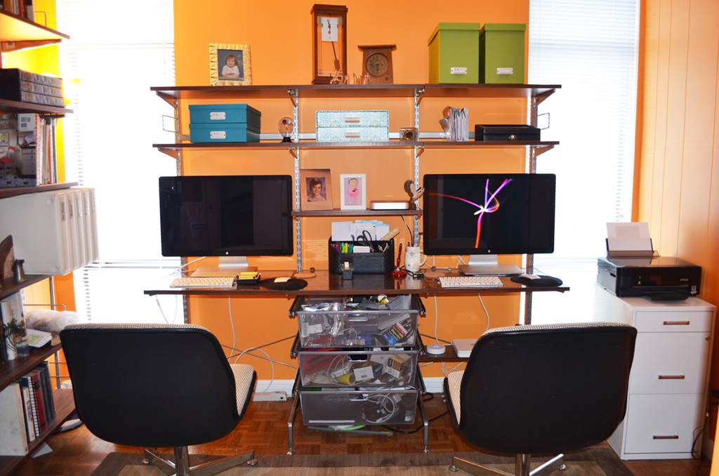 Build your own custom desk or organize your closets or - Organize computer desk ...