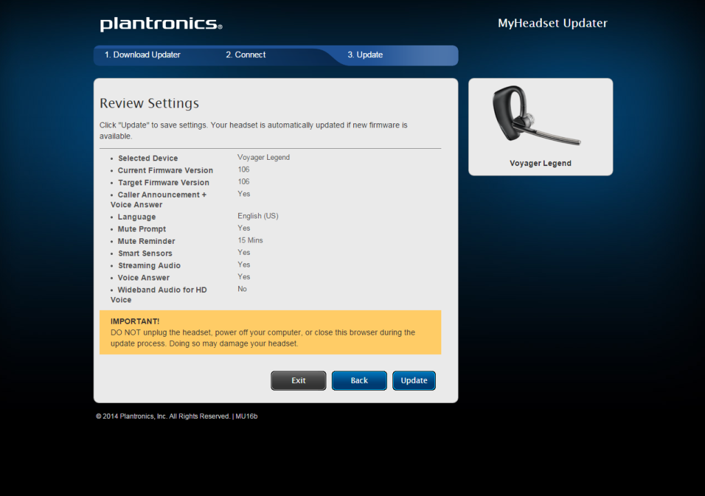 Plantronics Voyager Legend Bluetooth Headset Review The Gadgeteer