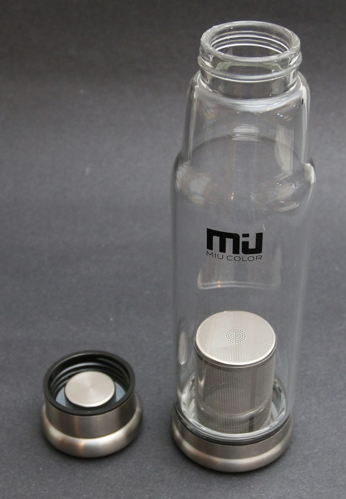 Miu Color Glass Water Bottle With Tea Infuser Review