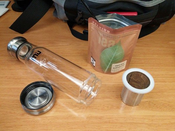 Miu color glass water bottle with tea infuser review the for How to remove bottom of glass bottle