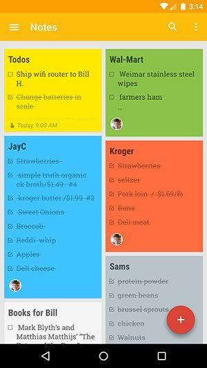 Google Keep note and list taking app review – The Gadgeteer