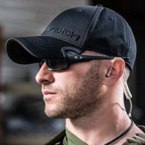 Pictures of a new product called Notch.  Notch is a hat thats has a notch cut out so that sunglasses fit comfortably within the brim of the hat. Product designer Paul Cunningham of Yuma, Arizona