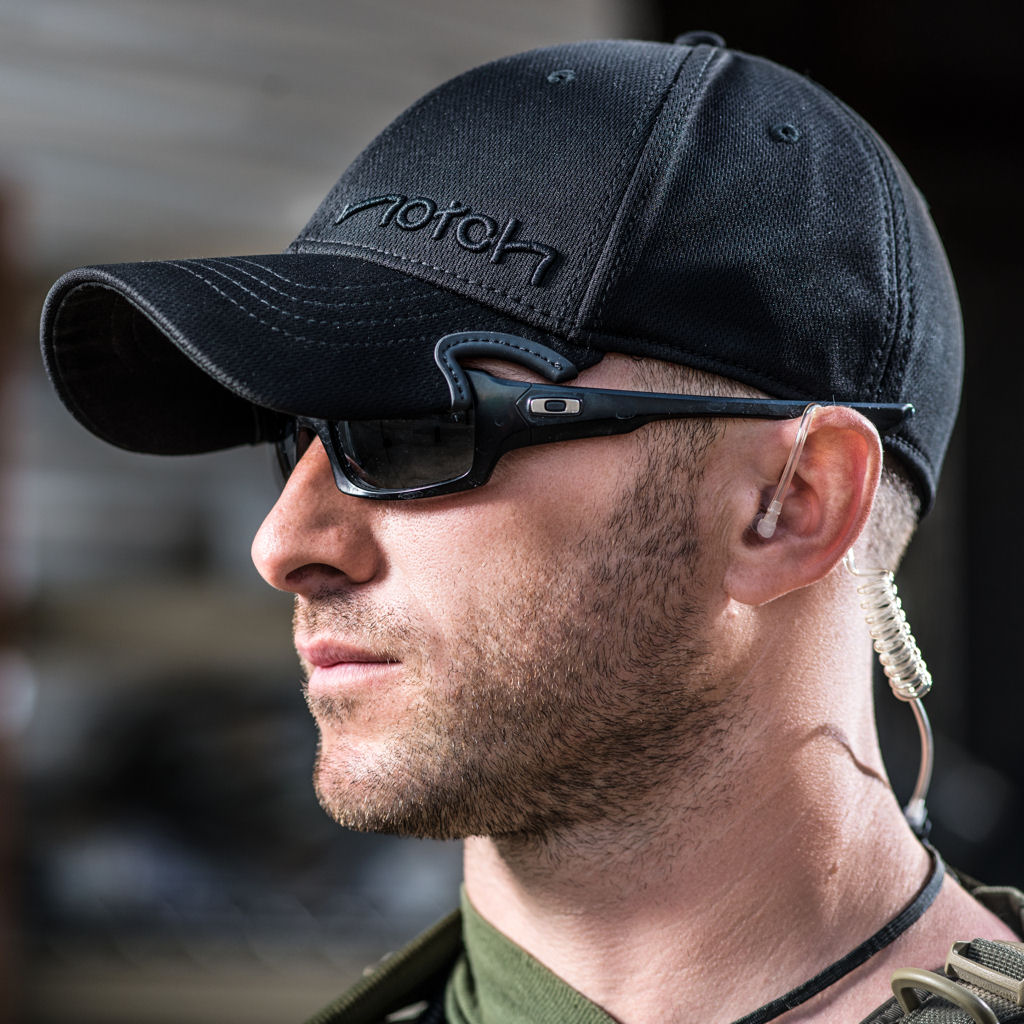 Notch gear lets you wear your hat down low with shades ...