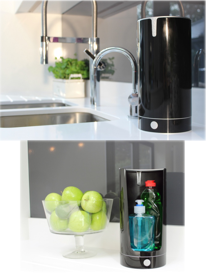 PAVARA sink tidy aims to keep your kitchen stylish by hiding soaps ...