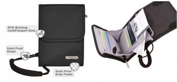 travelon anti theft classic neck wallet