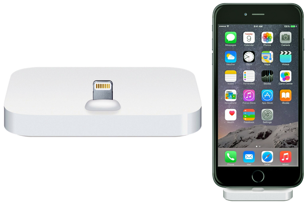 apple introduces a lightning dock for iphone the gadgeteer. Black Bedroom Furniture Sets. Home Design Ideas
