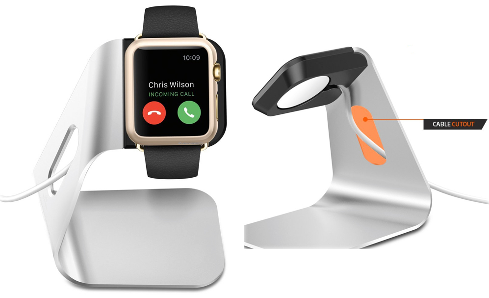 The Spigen Apple Watch Charging Stand is simple and elegant – and