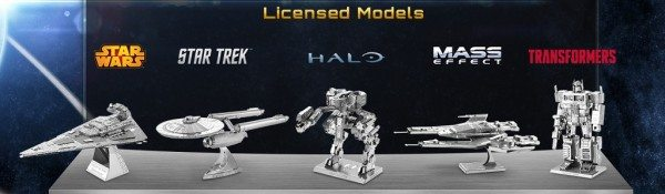 Fascinations Metal Earth Licensed Models