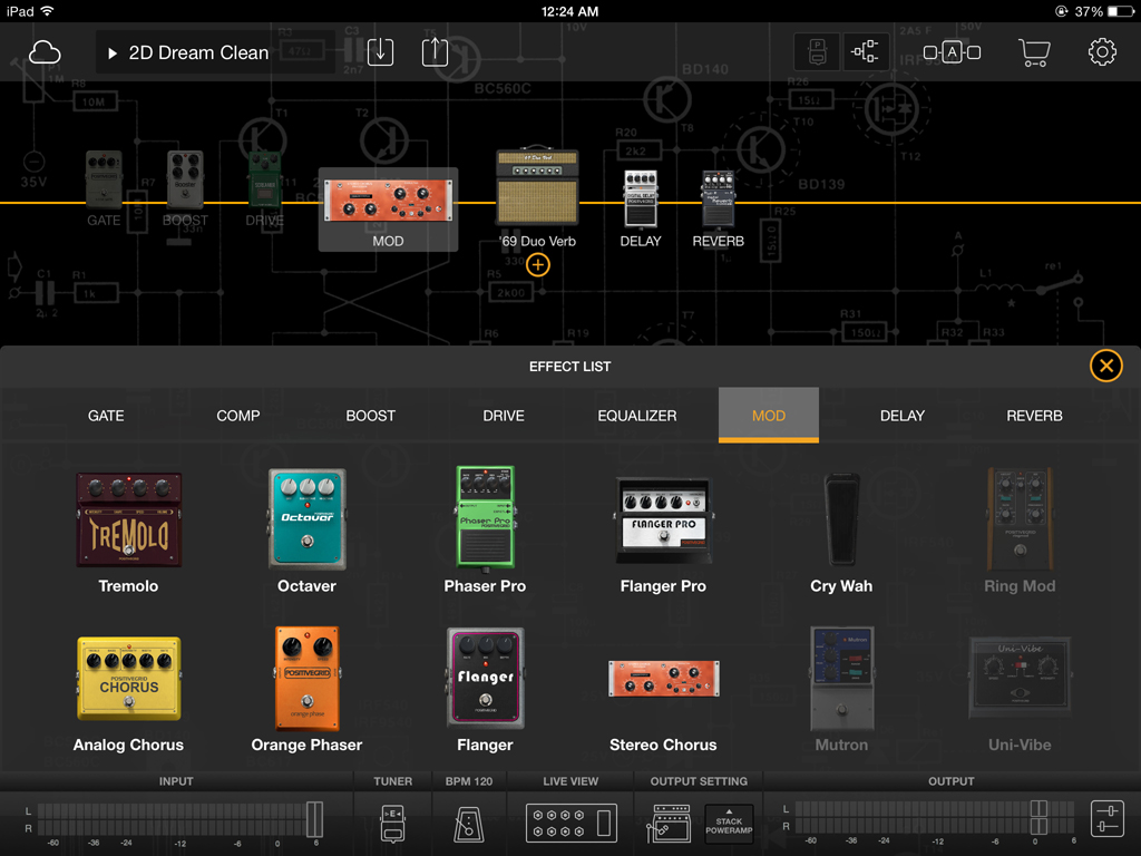 bias fx amp and effects processor app for ipad review the gadgeteer. Black Bedroom Furniture Sets. Home Design Ideas