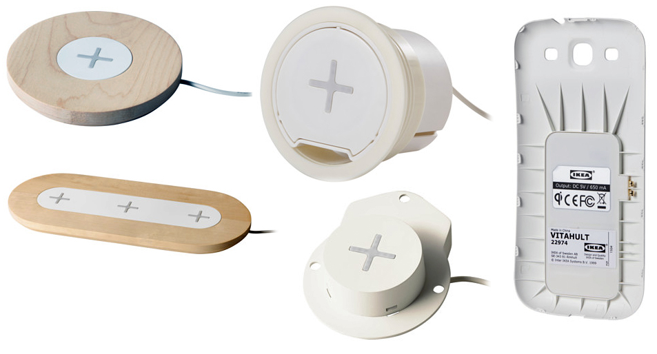 Ikea's line of Qi chargers are available now