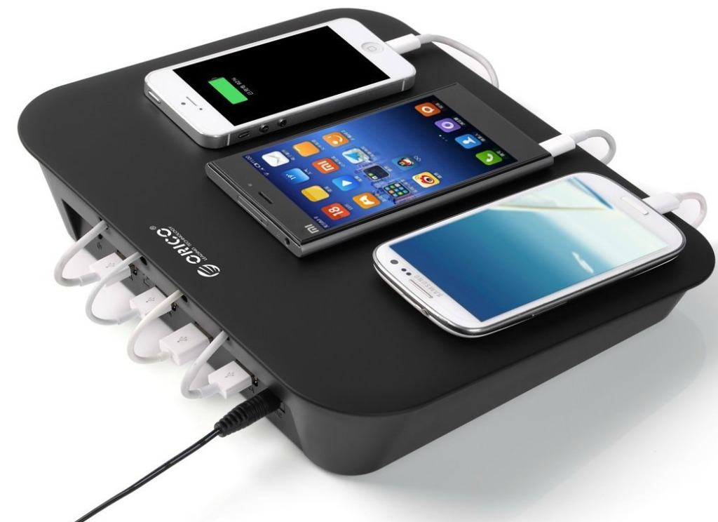 ORICO has a 4 port USB charging station WITH cable ...
