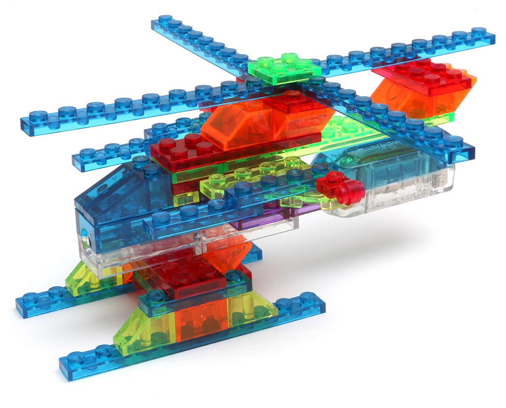 Laser Pegs Light Up Construction Toy 4 In 1 Helicopter Set Review