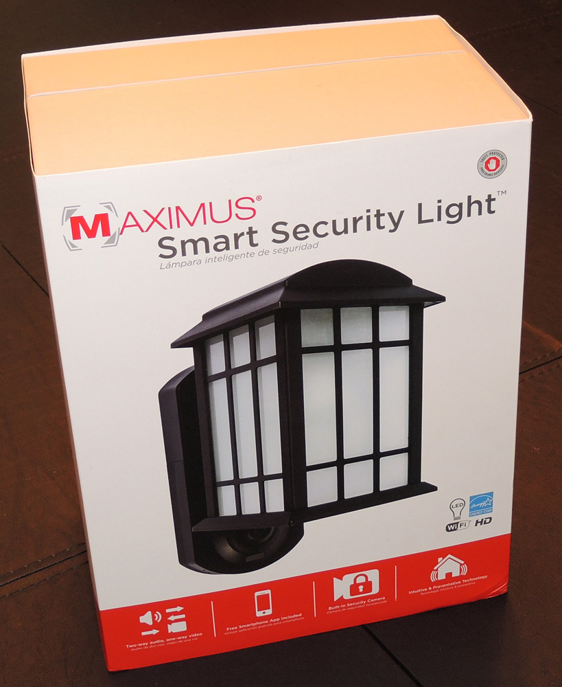 Maximus Smart Security Light Review The Gadgeteer