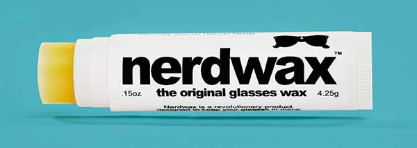 Nerdwax keeps your glasses from sliding down your nose