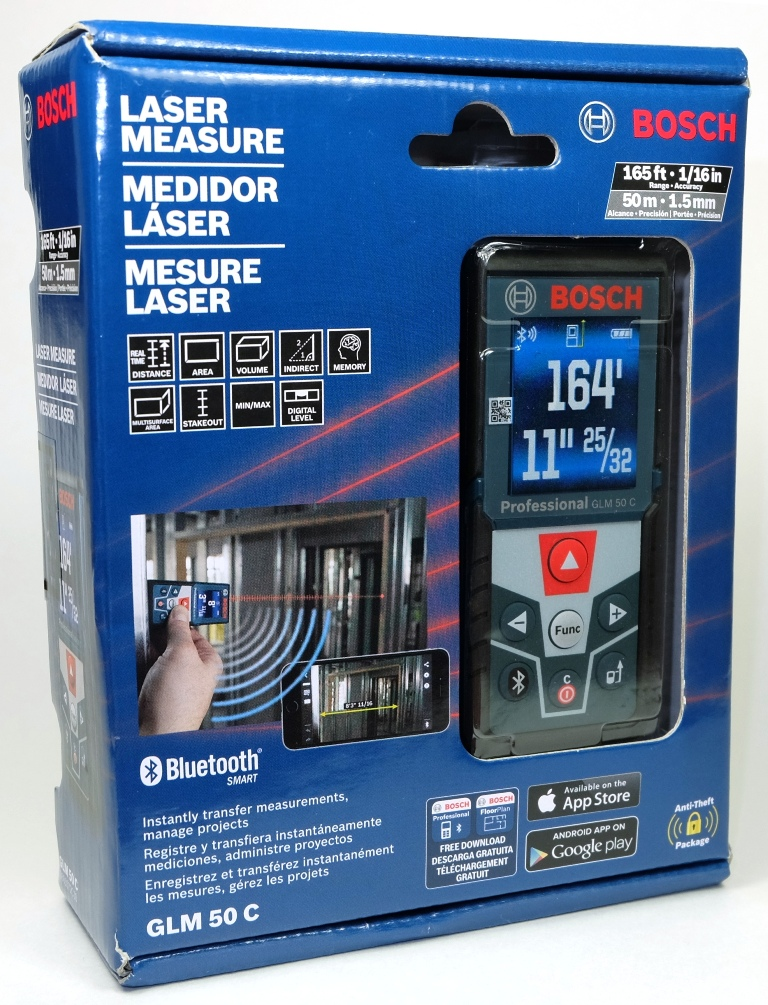 bosch glm 50 c professional laser measuring tool review. Black Bedroom Furniture Sets. Home Design Ideas