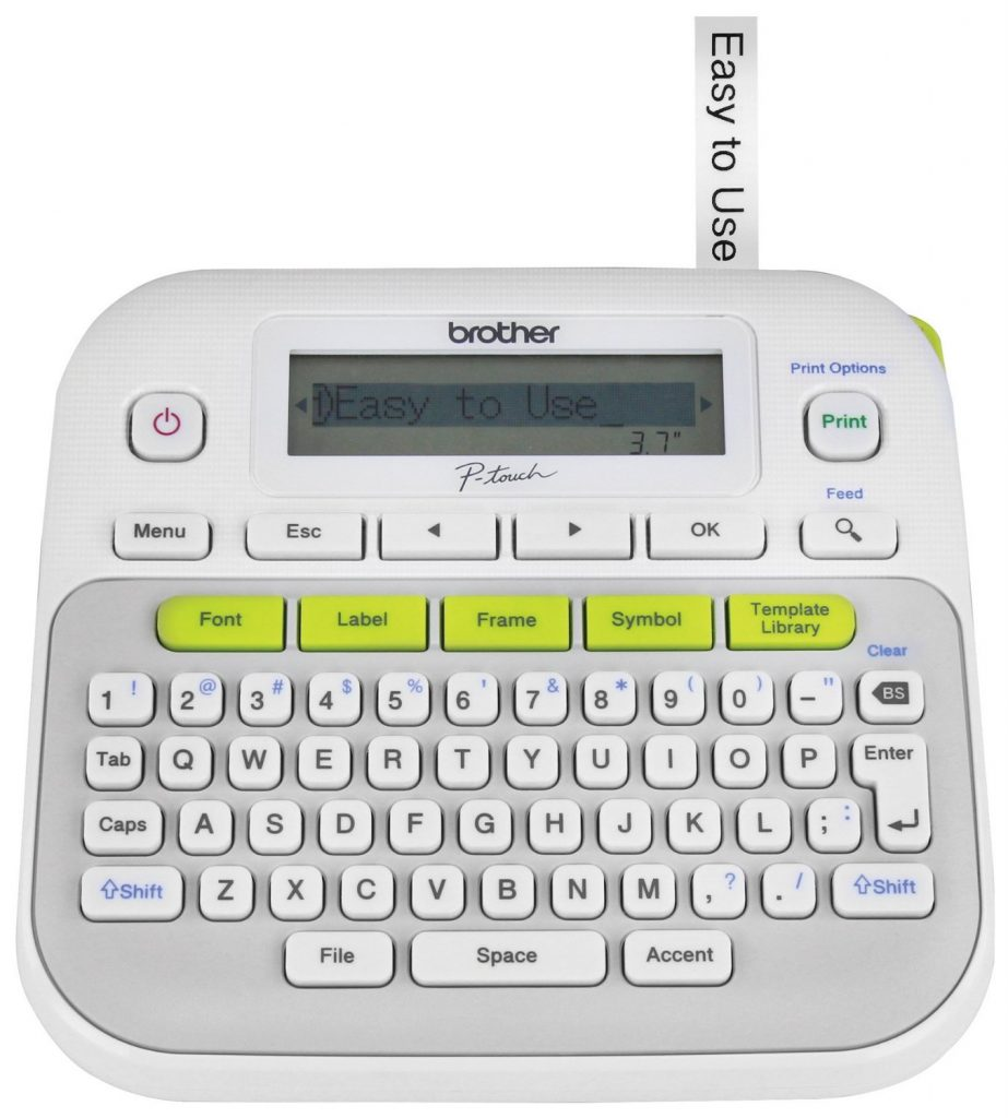 It is an image of Monster Brother P Touch Label Printer Instructions