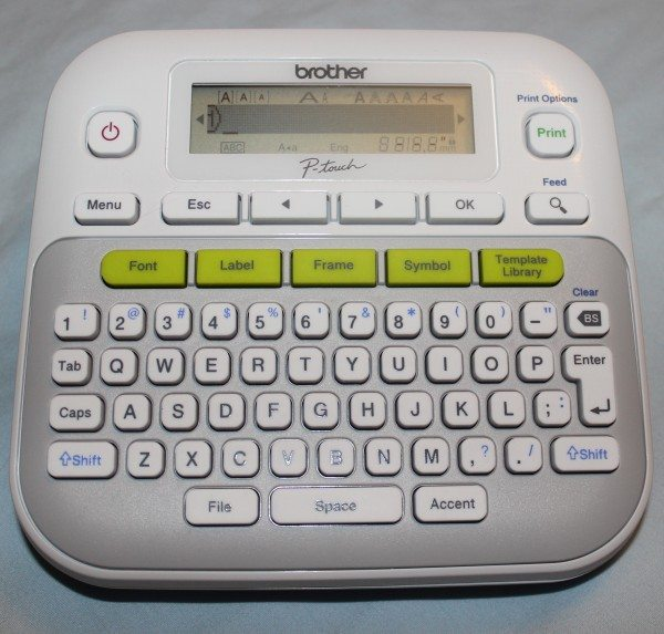 Brother P Touch Pt D210 Label Maker Review The Gadgeteer