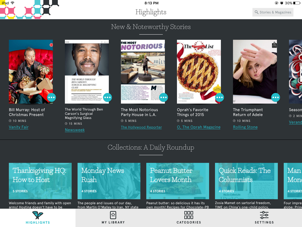 Texture magazine app for ios review the gadgeteer you can scroll through a list of all the magazines or you can filter magazines by categories for easier selection of your favorites sisterspd