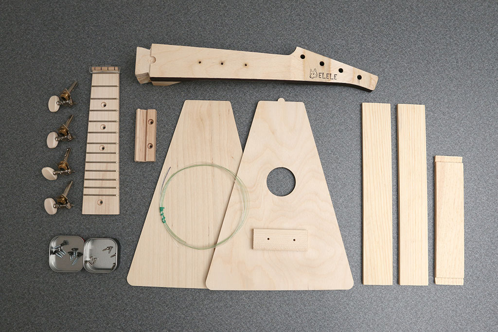 Wolfelele do it yourself ukulele building kit review the gadgeteer whats in the box soprano ukulele neck solutioingenieria Images