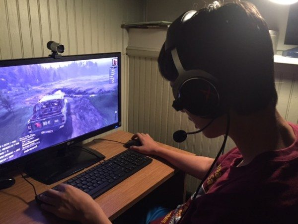 Headphones being tested out by my master-gamer son!