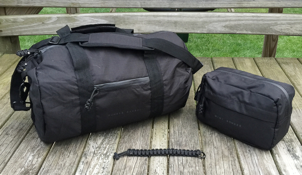bomber barrel duffel bag mini travel kit and firestarter