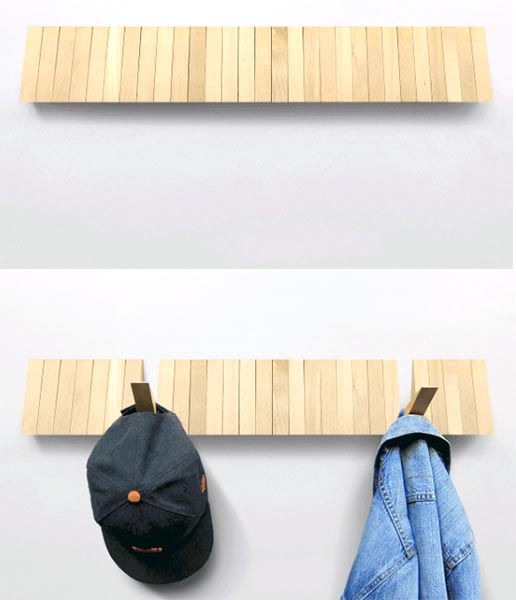 Switchboard is a magic coat rack with 25 hooks or no hooks at all ...