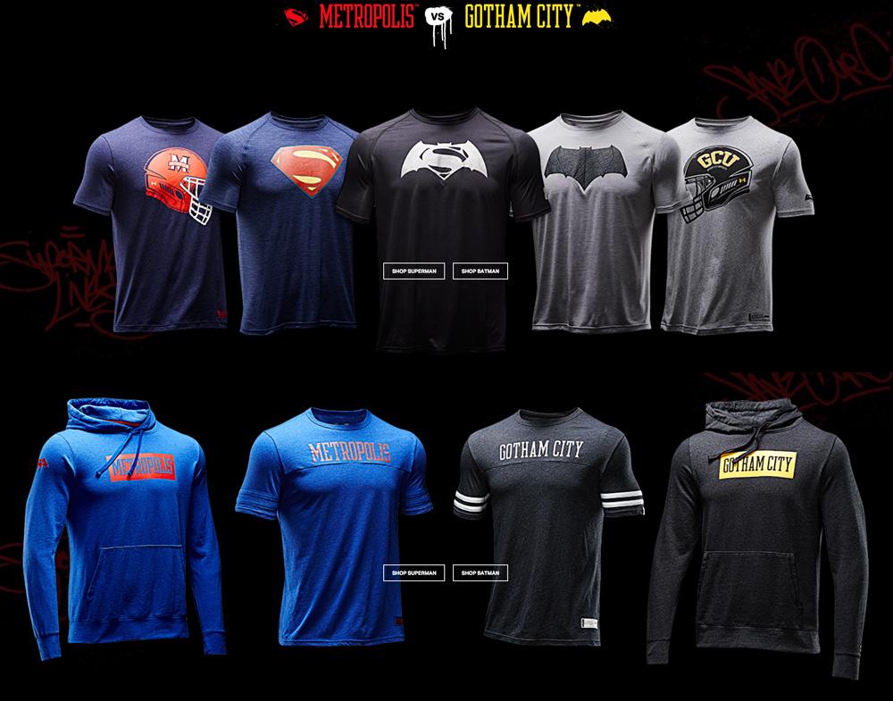 5dd3ed7c45e0 Under Armour Batman vs. Superman Alter Ego Collection – The Gadgeteer