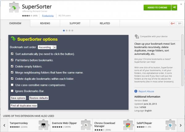 supersorter-extension