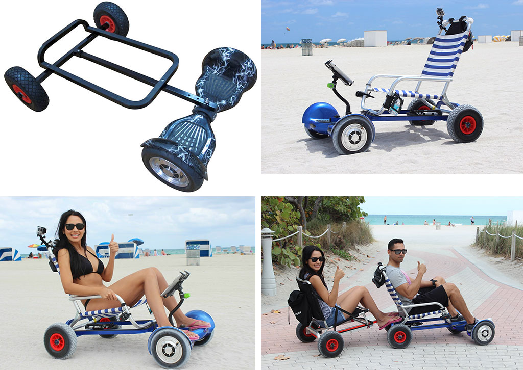 Hoverseat Turns Your 2 Wheeled Hoverboard Into A 4 Wheeled