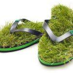grass-flipflops