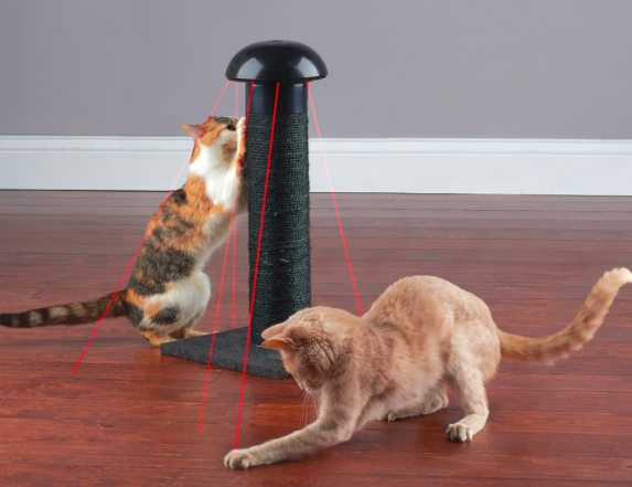 hammacher-laser-scratching-post