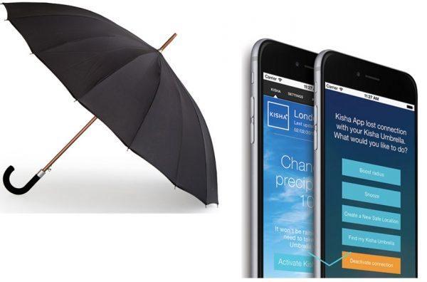 kisha bluetooth gps umbrella