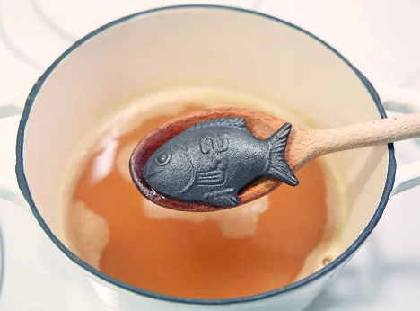 Iron levels low put this fish in your cup of tea or pot for Lucky iron fish controversy