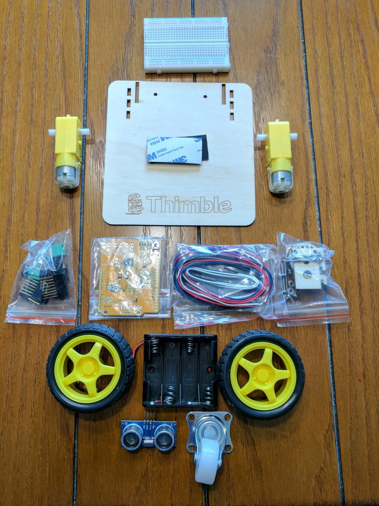 Thimble wi fi bot building kit review the gadgeteer i wouldnt say i was intimidated but i definitely didnt anticipate just how do it yourself this project was going to be solutioingenieria Images
