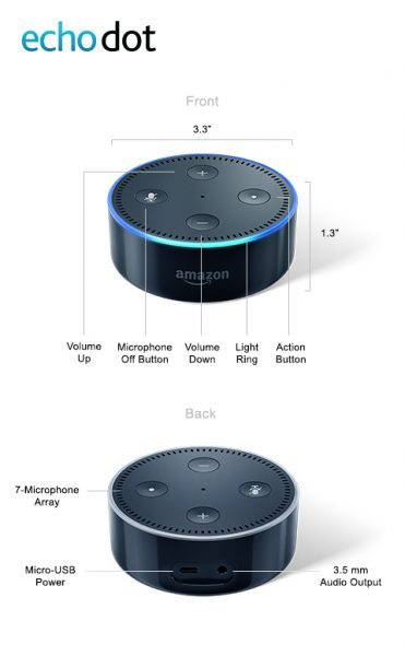 amazon echo dot 2nd generation review the gadgeteer. Black Bedroom Furniture Sets. Home Design Ideas