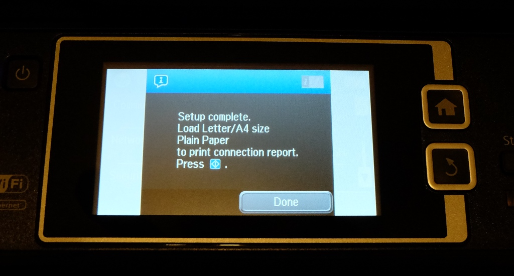 how to connect the epson printer to wifi