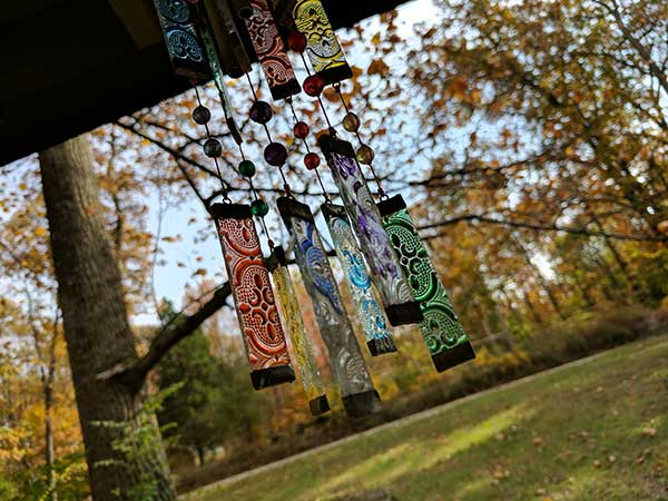 Wind chimes that can play the notes of your favorite tune